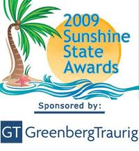2009 Sunshine State Awards Logo with Greenberg Traurig